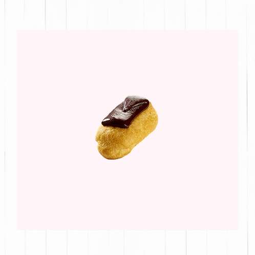 Mini éclairs chocolate y crème patissière - 12 unidades