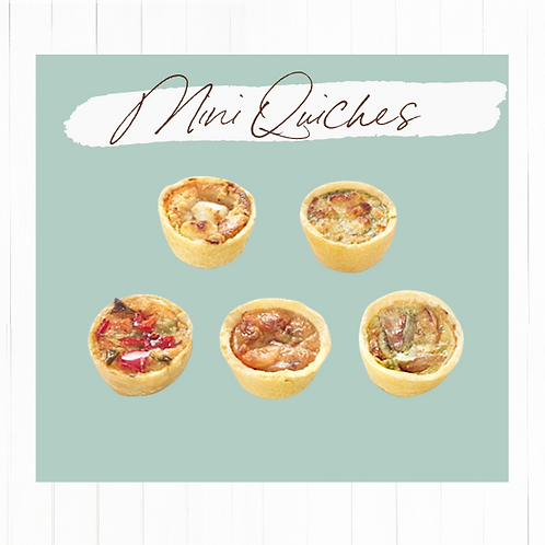 Mini quiches 25 unidades