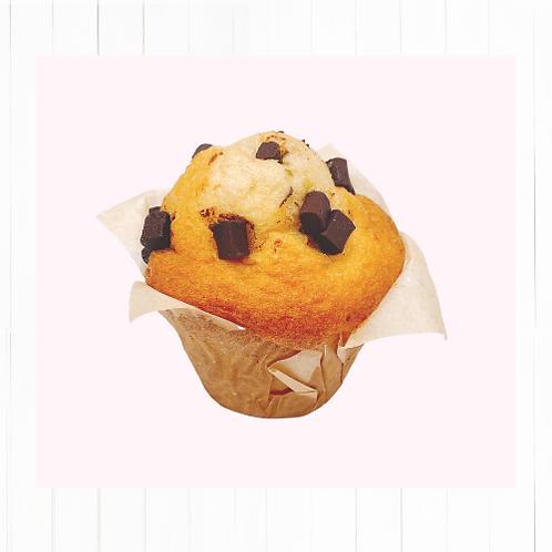 Muffins vainilla  con cuadritos de chocolate relleno de Nutella - 2 unidades