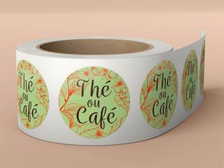 Étiquettes Un thé ou un café