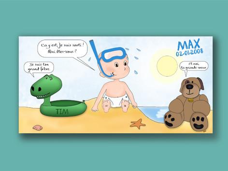 Carte - Fairepart Max