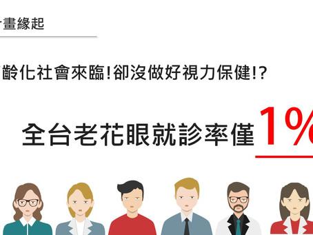 2019「免費敬老眼鏡-守護長者視力」公益推廣計畫開跑囉!