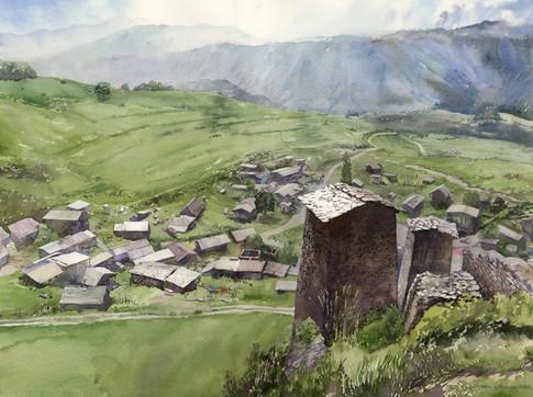 Upper Omalo, Caucasus Mountains, Georgia