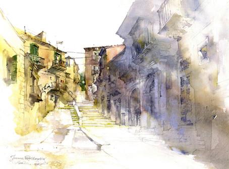 Street in Modica, Sicily
