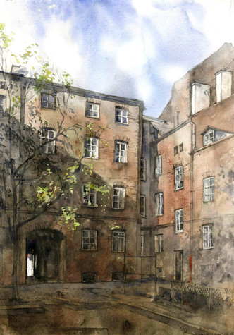 Old courtyard, Praga, Warsaw