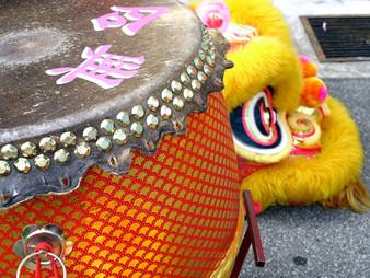 Die Begrüssung des wǔ shī 舞狮