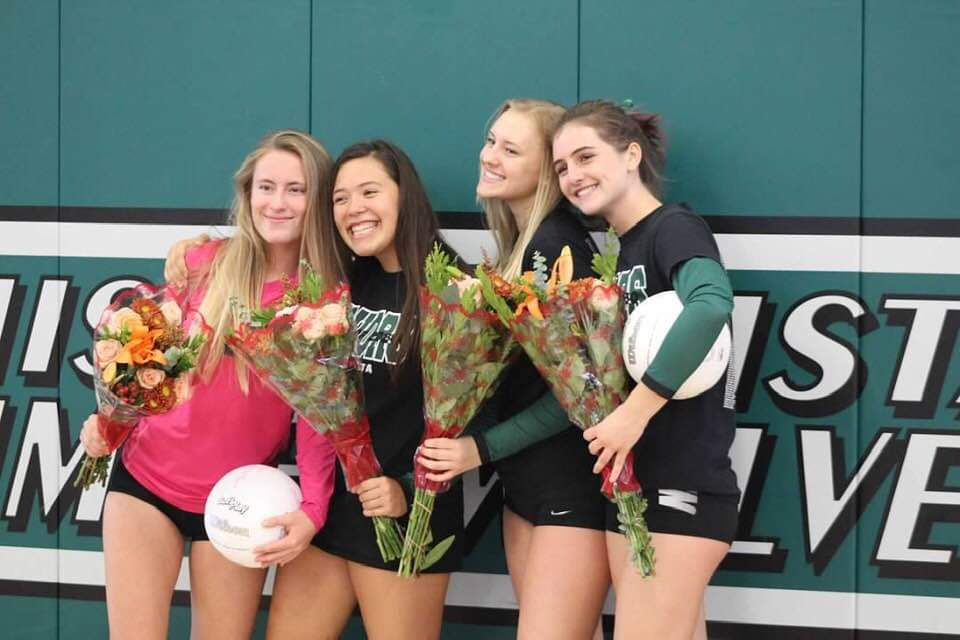 Senior Night - Pokletar, M., Ashburn, A., Castillo, A., Stevens, S.
