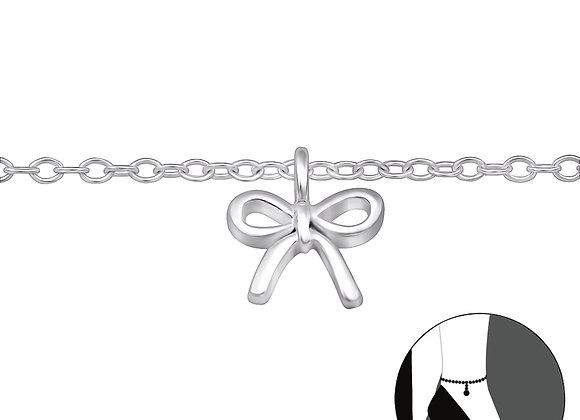 Silver Ribbon Anklet
