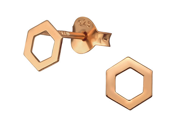 Hexagon Mini Ear Studs