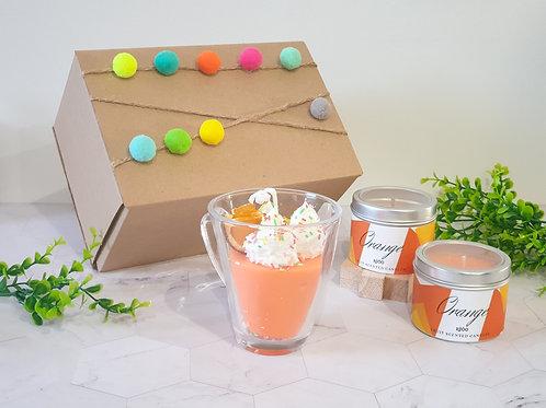 """Подаръчна кутия """"Orange mousse"""""""