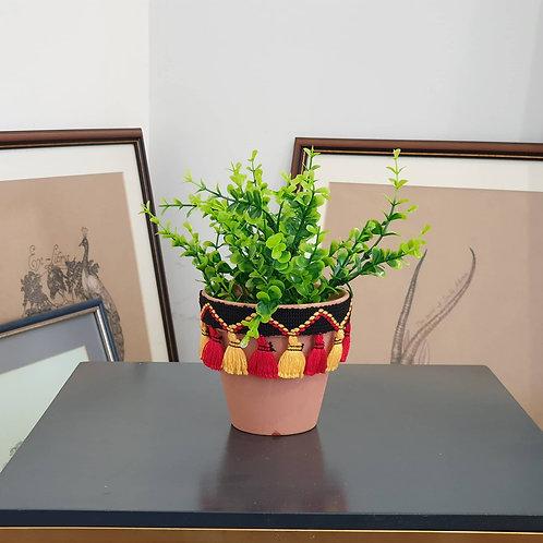 """Изкуствено цвете в керамична саксия """"Boho Chic"""""""