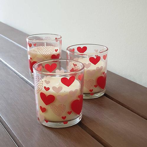 """Ароматна свещ в чаша """"Love"""""""