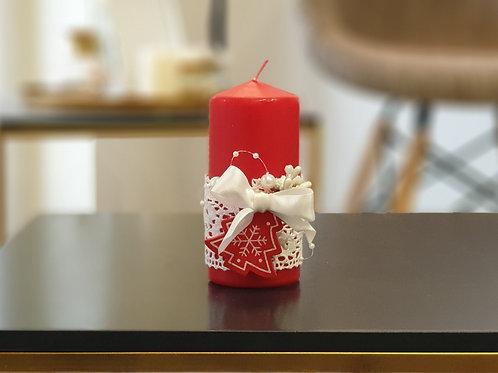 """Коледна свещ """"Christmas lace"""""""