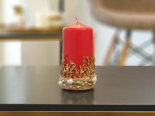 """Коледна свещ """" Golden Christmas"""""""