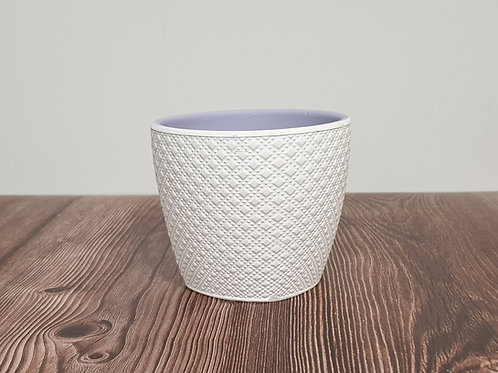 "Керамична кашпа ""White and purple"""