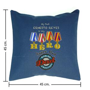 Medidas del Cojin 45 cm. X 45 cm.