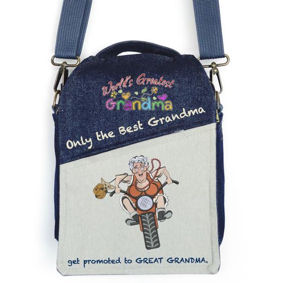 "CANVAS MESSENGER BAG ""Great Grandma"""