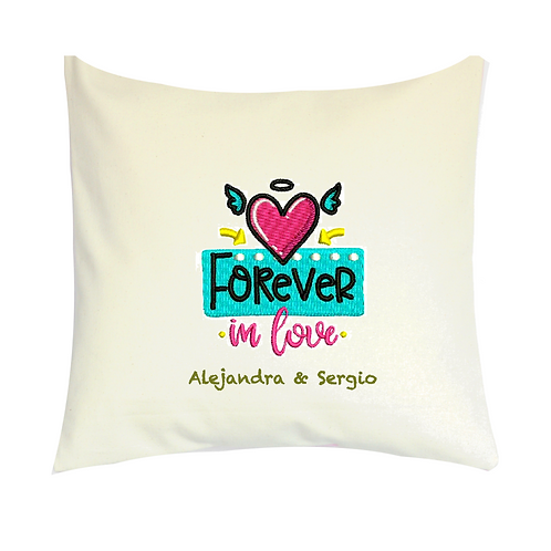 COJINES PERSONALIZADOS Forever in Love