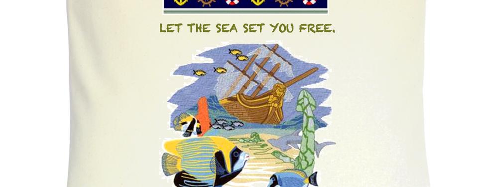 "Cojín Personalizado Modelo ""Let The Sea Set You Free"""