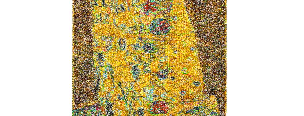 """Diseño del Bordado: """"The Kiss"""" Gustav Klimt"""