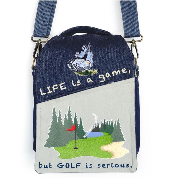 """CANVAS MESSENGER BAG """"Golf"""""""