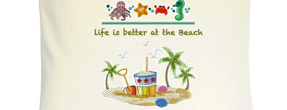 "Cojín Personalizado Modelo ""Life is better at the Beach"""