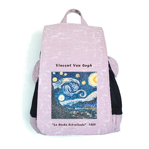"TISSUS SACK ARTWORK ""La Noche Estrellada"" by Vincent Van Gogh"