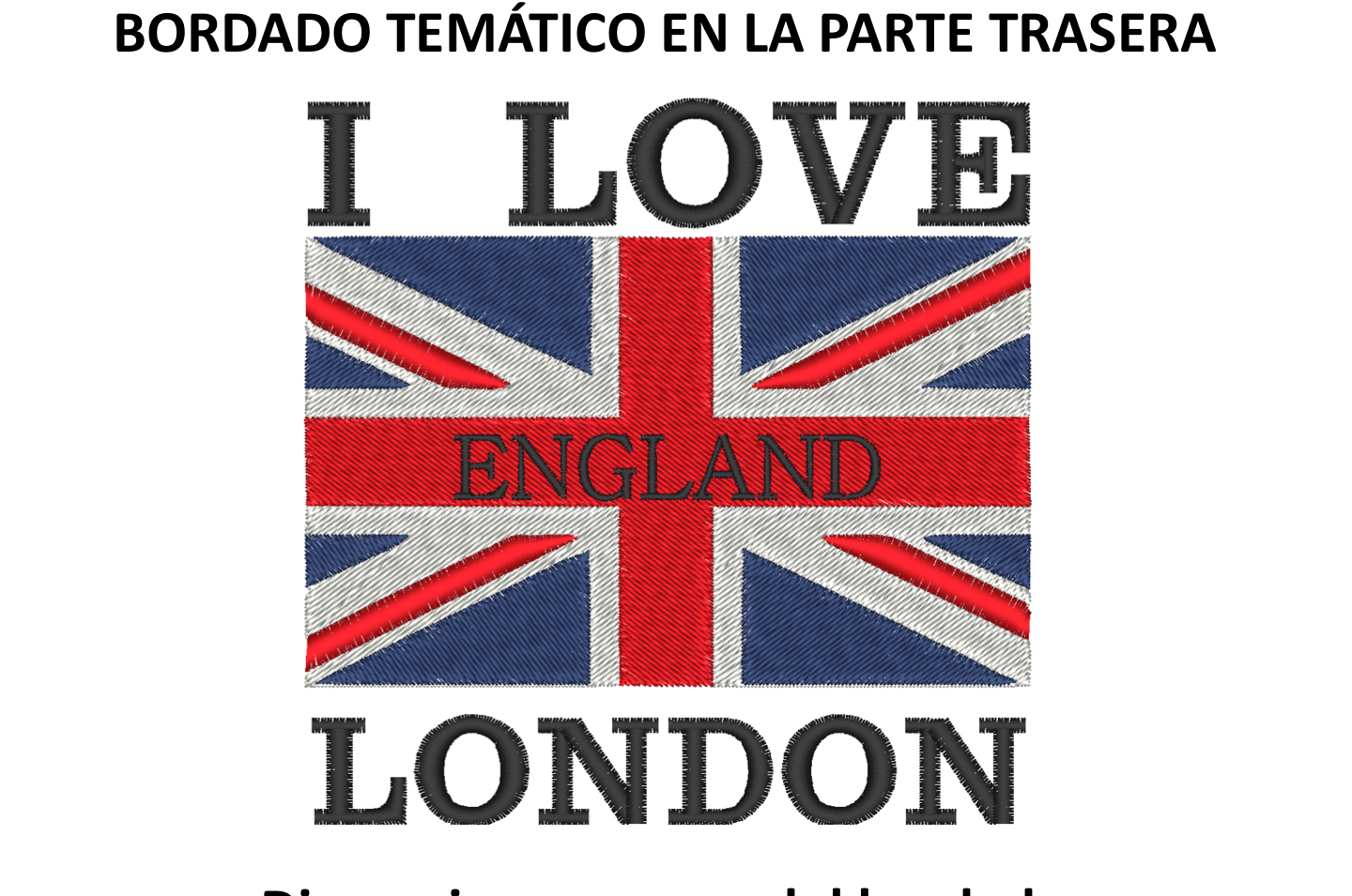 "Diseño: ""I Love London""."