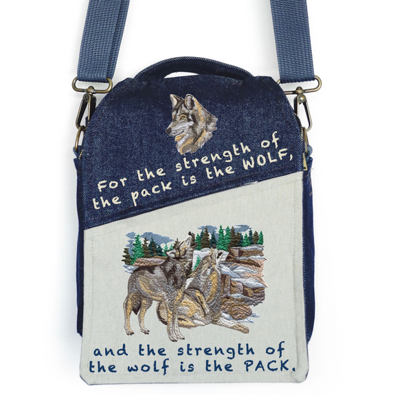 "CANVAS MESSENGER BAG ""The Strength of the WOLF"""