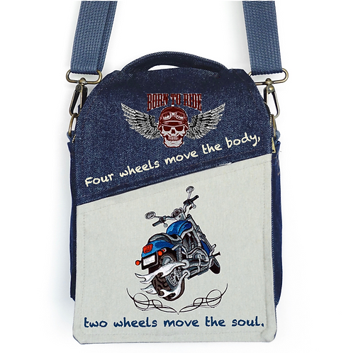 CANVAS MESSENGER BAG Born to Ride