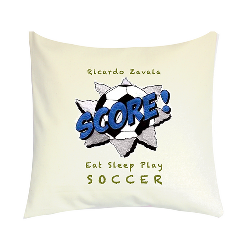 COJINES PERSONALIZADOS Eat Sleep Play SOCCER