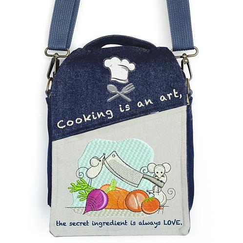 CANVAS MESSENGER BAG Cooking is an Art