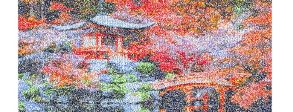 "Diseño: ""Daigo-ji Temple""."