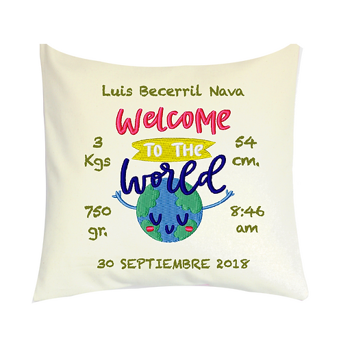COJINES PERSONALIZADOS Welcome To The World