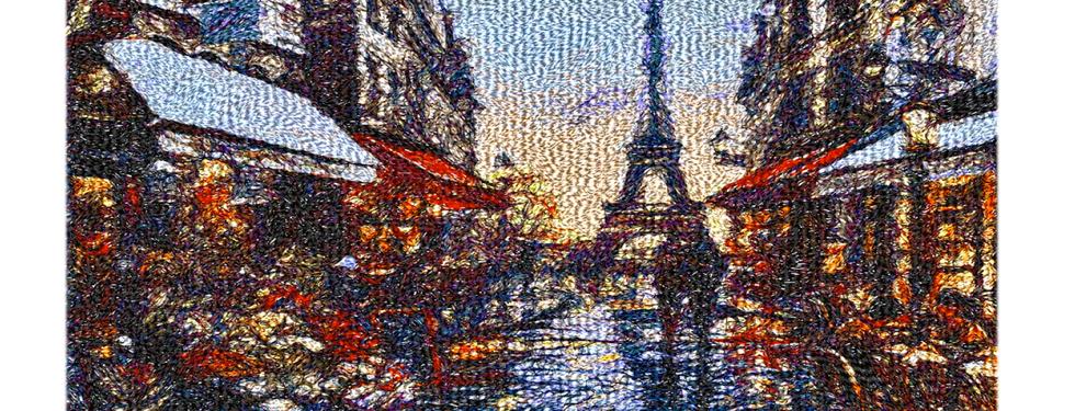"""Diseño: """"Caminando bajo la lluvia de Paris""""."""