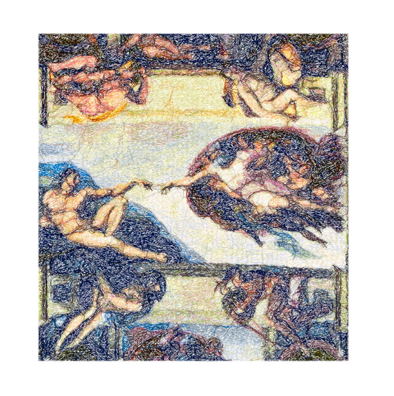 """Diseño del Bordado: """"La Creación de Adán"""""""