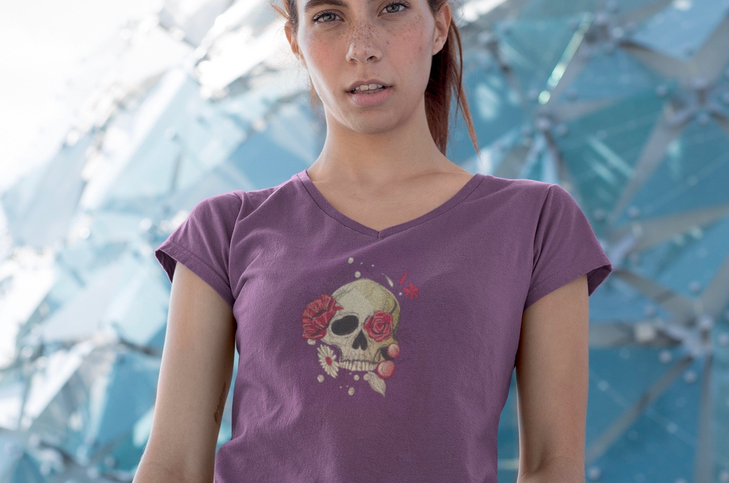 v-neck-tee-mockup-of-a-thin-girl-with-fr