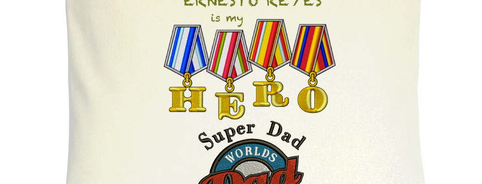 "Cojín Personalizado Modelo ""My Dad Is My Hero"""