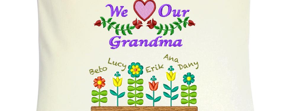 """Cojín Personalizado Modelo """"Grandma"""""""