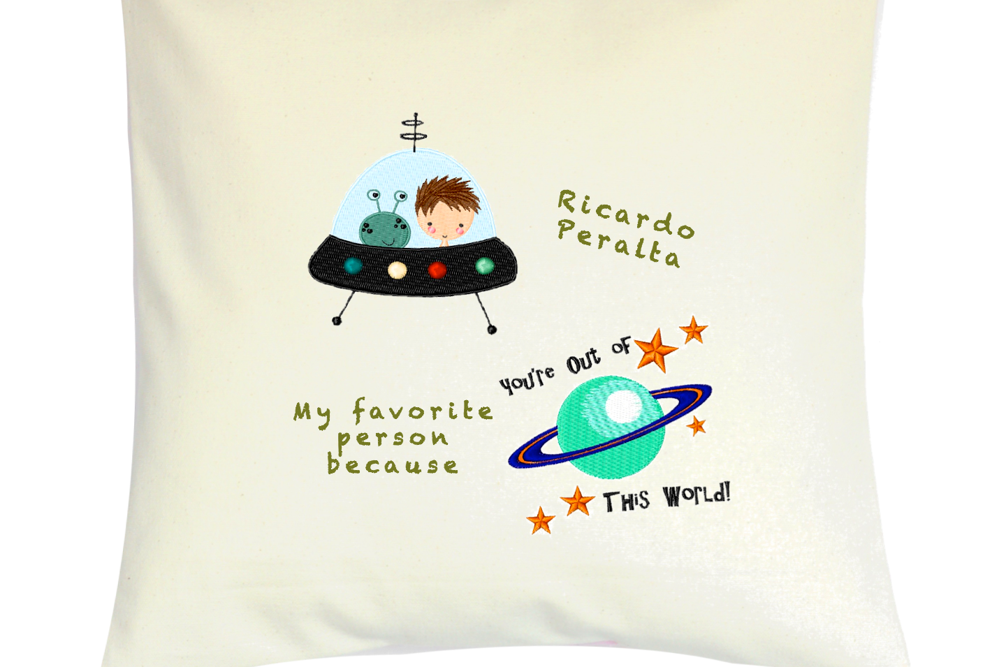 "Cojín Personalizado Modelo ""Out of this World"""