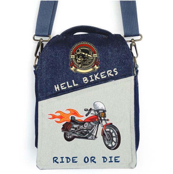 "CANVAS MESSENGER BAG ""Ride or Die"""