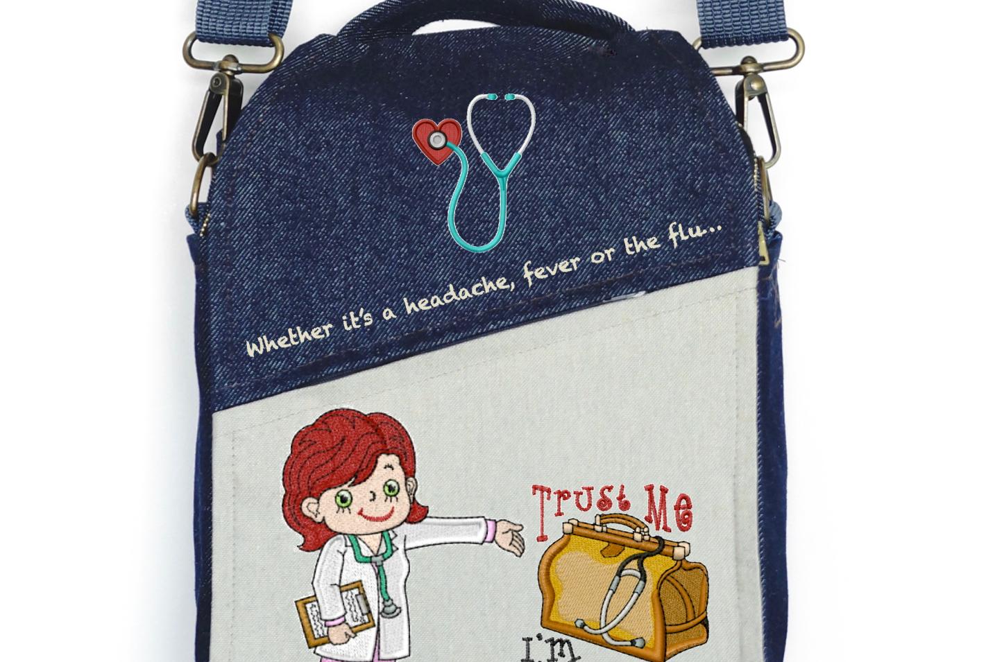 "CANVAS MESSENGER BAG ""Doctora"""