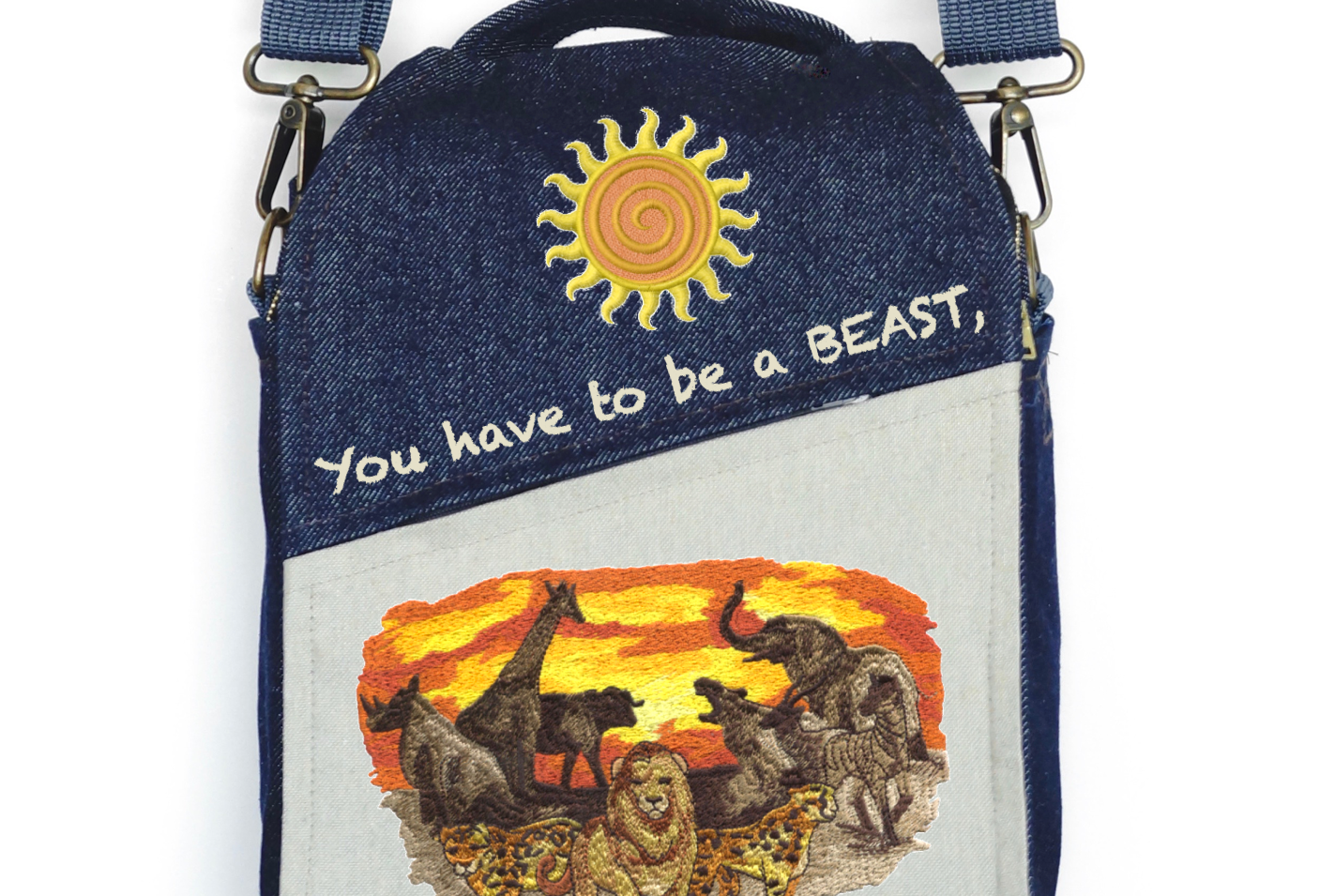 "CANVAS MESSENGER BAG ""They will Respect You"""