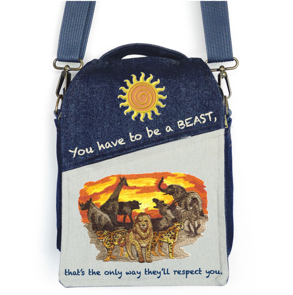 """CANVAS MESSENGER BAG """"They will Respect You"""""""
