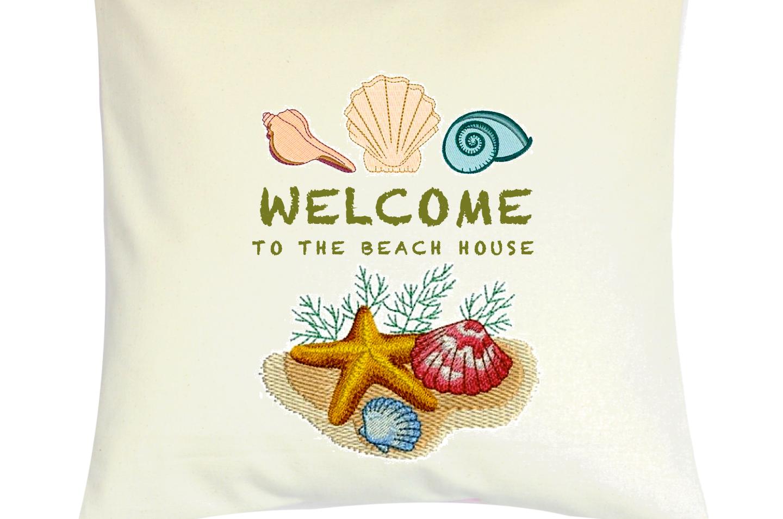 "Cojín Personalizado Modelo ""Welcome To The Beach House"""