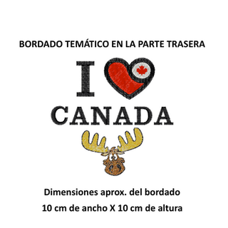 "Diseño: ""I Love Canada""."