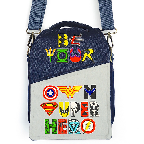 CANVAS MESSENGER BAG Super Hero
