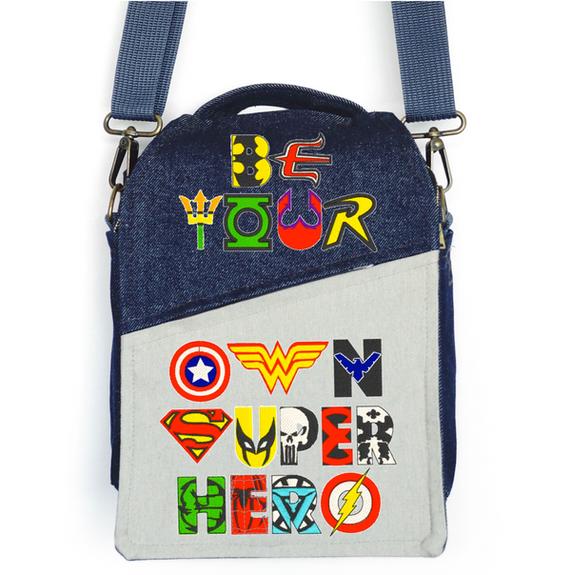 "CANVAS MESSENGER BAG ""Super Hero"""