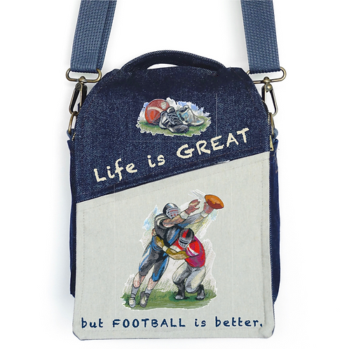 CANVAS MESSENGER BAG Football is Great