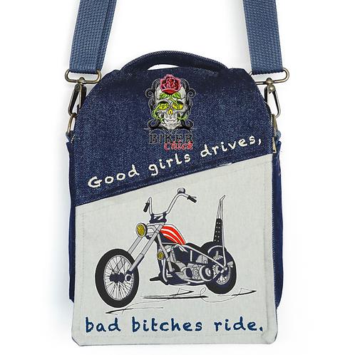 CANVAS MESSENGER BAG Biker Chick
